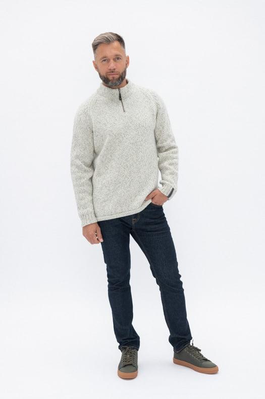 Vilnos megztinis su užtraukiama apykakle