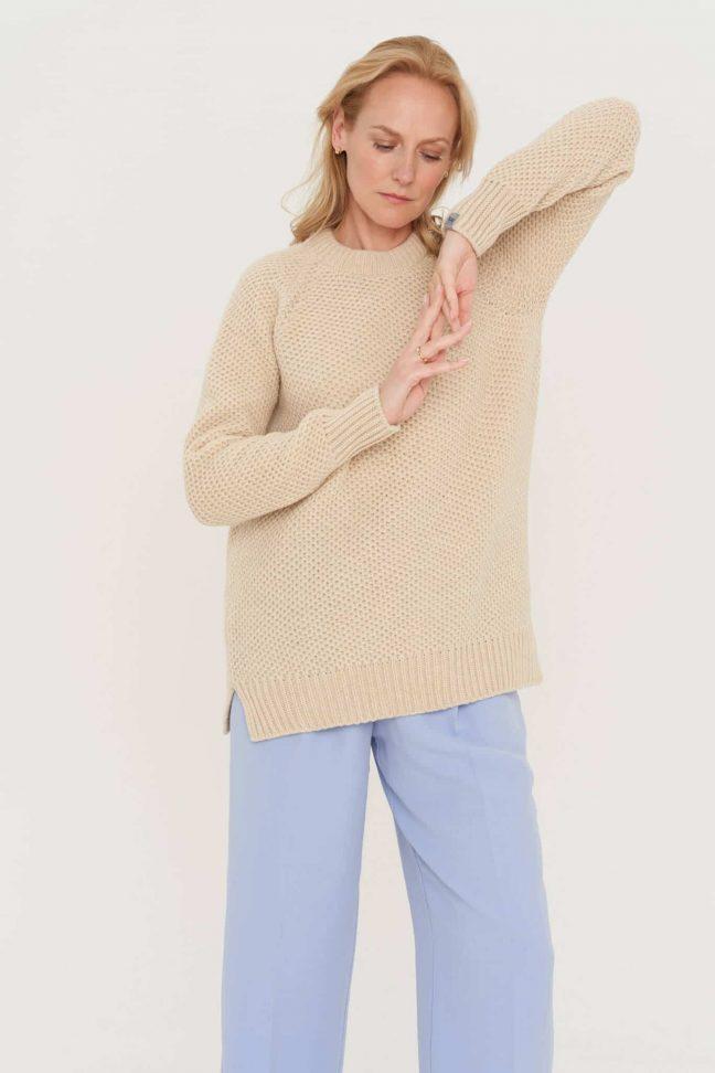 merino ir kašmyro vilnos megztinis
